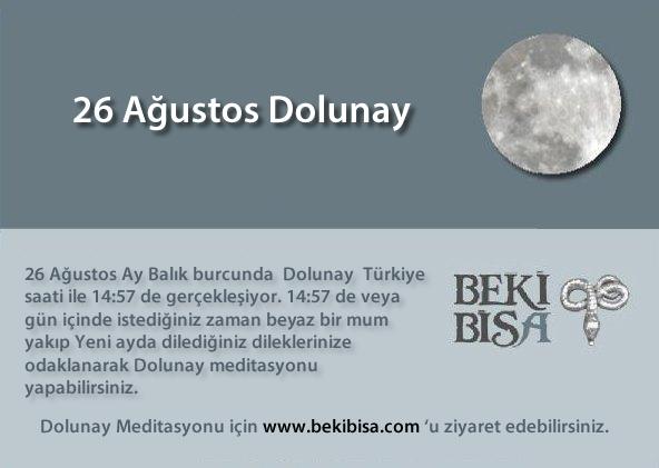 26 Ağustos Dolunay