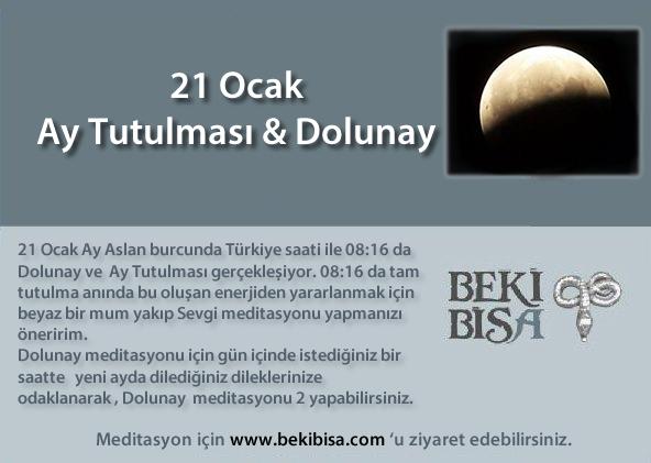 21 Ocak Dolunay & Ay Tutulması