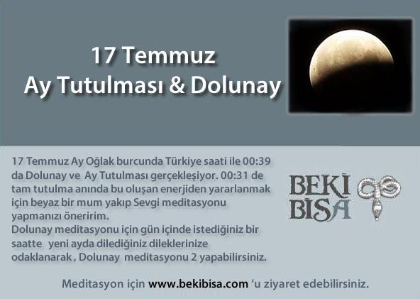 17 Temmuz Dolunay & Ay Tutulması